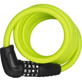 ABUS Numero 5510 Combi Vaijerilukko 180cm SCMU, lime green